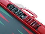 picture of Zaza & Sacci Leather Backgammon Set - Model ZS-612 - Large - Red (9 of 12)