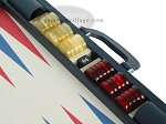 picture of Zaza & Sacci Leather/Microfiber Backgammon Set - Model ZS-760 - Large - Blue (9 of 12)