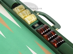 picture of Zaza & Sacci Leather/Microfiber Backgammon Set - Model ZS-760 - Large - Green (9 of 12)