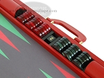 picture of Zaza & Sacci Leather/Microfiber Backgammon Set - Model ZS-760 - Large - Red (9 of 12)