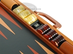 picture of Zaza & Sacci Leather Backgammon Set - Model ZS-888 - Large - Brown (9 of 12)