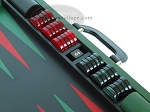 picture of Zaza & Sacci Leather Backgammon Set - Model ZS-888 - Large - Green (9 of 12)