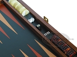 picture of Zaza & Sacci® Folding Wood Backgammon Set - Model ZS-008 - Large - Leather/Mahogany (9 of 12)