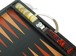 Zaza & Sacci® Leather Backgammon Set - Model ZS-200 - Travel - Black