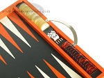 picture of Zaza & Sacci Leather Backgammon Set - Model ZS-200 - Travel - Orange (9 of 11)