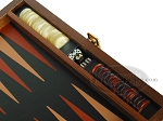 picture of Zaza & Sacci® Folding Wood Backgammon Set - Model ZS-004 - Medium - Leather/Mahogany (9 of 12)