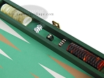 picture of Zaza & Sacci Leather/Microfiber Backgammon Set - Model ZS-425 - Green (9 of 12)