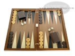 Dal Negro Wood Backgammon Set - Walnut