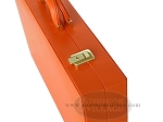 picture of Zaza & Sacci® Leather Backgammon Set - Model ZS-501 - Medium - Orange (10 of 12)