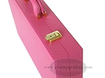 picture of Zaza & Sacci® Leather Backgammon Set - Model ZS-501 - Medium - Pink (10 of 12)