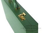 picture of Zaza & Sacci® Leather Backgammon Set - Model ZS-612 - Large - Green (10 of 12)