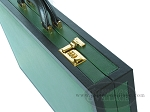 picture of Zaza & Sacci® Leather Backgammon Set - Model ZS-888 - Large - Green (10 of 12)