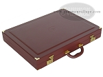 picture of Dal Negro Eco Leather Backgammon Set - Bordeaux (10 of 10)