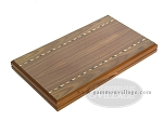 picture of Dal Negro Wood Backgammon Set - Walnut (10 of 10)