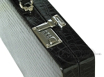 picture of Marcello de Modena™ Leather Backgammon Set - Model MM-621 - Large - Croco Black (10 of 12)