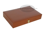picture of Zaza & Sacci® Leather/Microfiber Backgammon Set - Model ZS-425 - Brown (11 of 12)