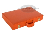 picture of Zaza & Sacci® Leather Backgammon Set - Model ZS-501 - Medium - Orange (11 of 12)