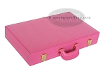 picture of Zaza & Sacci® Leather Backgammon Set - Model ZS-501 - Medium - Pink (11 of 12)