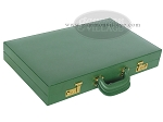 picture of Zaza & Sacci® Leather Backgammon Set - Model ZS-612 - Large - Green (11 of 12)