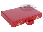 picture of Zaza & Sacci® Leather Backgammon Set - Model ZS-612 - Large - Red (11 of 12)