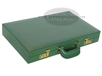 picture of Zaza & Sacci® Leather/Microfiber Backgammon Set - Model ZS-760 - Large - Green (11 of 12)