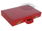 picture of Zaza & Sacci® Leather/Microfiber Backgammon Set - Model ZS-760 - Large - Red (11 of 12)