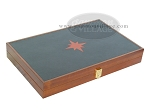 picture of Zaza & Sacci® Folding Wood Backgammon Set - Model ZS-008 - Large - Leather/Mahogany (11 of 12)