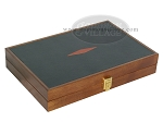 picture of Zaza & Sacci Folding Wood Backgammon Set - Model ZS-004 - Medium - Leather/Mahogany (11 of 12)