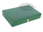 picture of Zaza & Sacci® Leather/Microfiber Backgammon Set - Model ZS-425 - Green (11 of 12)