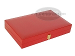 picture of Zaza & Sacci® Leather/Microfiber Backgammon Set - Model ZS-425 - Red (11 of 12)