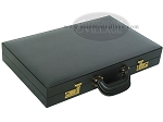 picture of Zaza & Sacci® Leather/Microfiber Backgammon Set - Model ZS-760 - Large - Black (11 of 12)