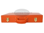 picture of Zaza & Sacci® Leather Backgammon Set - Model ZS-501 - Medium - Orange (12 of 12)