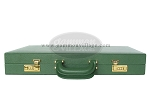 picture of Zaza & Sacci® Leather Backgammon Set - Model ZS-612 - Large - Green (12 of 12)