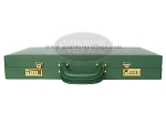 picture of Zaza & Sacci® Leather/Microfiber Backgammon Set - Model ZS-760 - Large - Green (12 of 12)