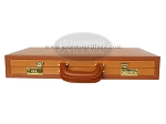 picture of Zaza & Sacci® Leather Backgammon Set - Model ZS-888 - Large - Brown (12 of 12)