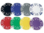 12gram Poker Suits and Stripes Patterned Poker Chips - Roll of 50