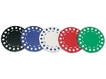 11.5gram Two-Tone Diamond Patterned Poker Chips - Roll of 50 - Item: 1338