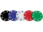 12gram Poker Suit Patterned Poker Chips - Roll of 50 - Item: 1339