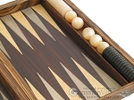 picture of Zebrano Backgammon Set with Racks (10 of 12)