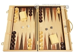 18-inch Wood Backgammon Set - Burlwood - Item: 1669