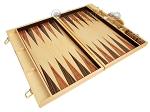 picture of 18-inch Wood Backgammon Set - Burlwood (9 of 11)