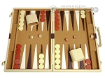 picture of 18-inch Deluxe Backgammon Set - Camel (1 of 11)