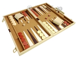 picture of 18-inch Deluxe Backgammon Set - Camel (2 of 11)