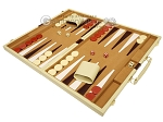 picture of 18-inch Deluxe Backgammon Set - Camel (3 of 11)