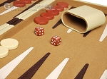 picture of 18-inch Deluxe Backgammon Set - Camel (8 of 11)
