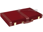 picture of 15-inch Deluxe Backgammon Set - Maroon (11 of 11)