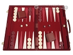 picture of 18-inch Deluxe Backgammon Set - Maroon (1 of 11)