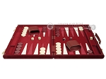 picture of 18-inch Deluxe Backgammon Set - Maroon (4 of 11)