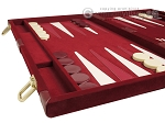 picture of 18-inch Deluxe Backgammon Set - Maroon (5 of 11)