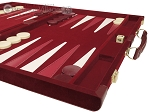 picture of 18-inch Deluxe Backgammon Set - Maroon (6 of 11)